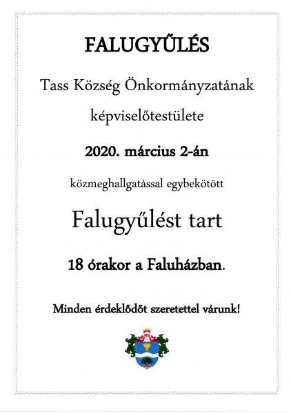 Falugyűlés 2020